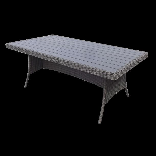Sofia havebord med nonwood grå. Str. 96x200 cm