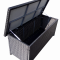 Hyndebox 135x65 cm sort polyrattan