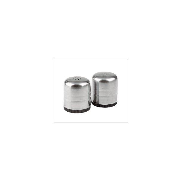 Splinterny Salt- & Pebersæt. 4 cm - H: 5 cm - 18/8 Stål- alt i isenkram NN31