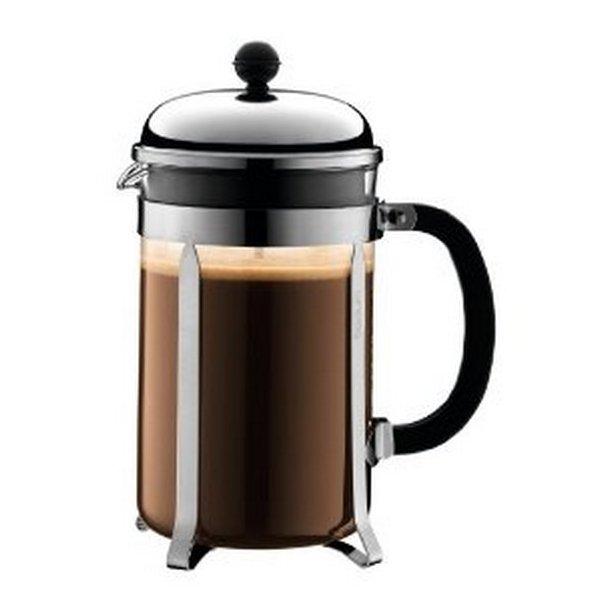 Bodum Chambord Kaffebrygger - 12 kopper - klassisk stempelkande