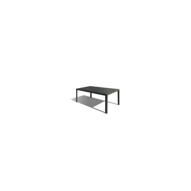 Havebord - 90 × 200 cm - Sort Nonwood