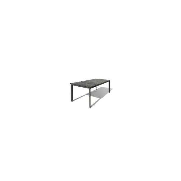 Havebord - 90 × 200 cm - Grå/Antracit