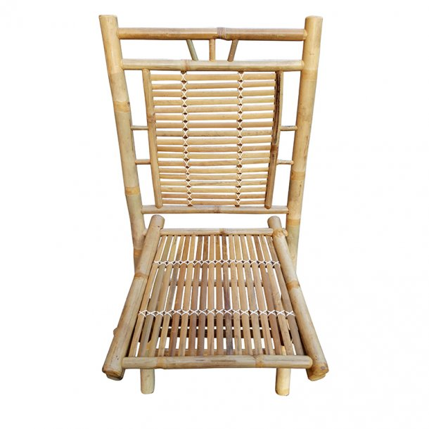 Bambus Caféstol uden Armlæn