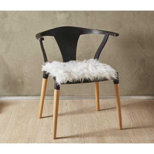 Lammeskind Akryl Sædehynde - Hvid- 40 x 40 cm
