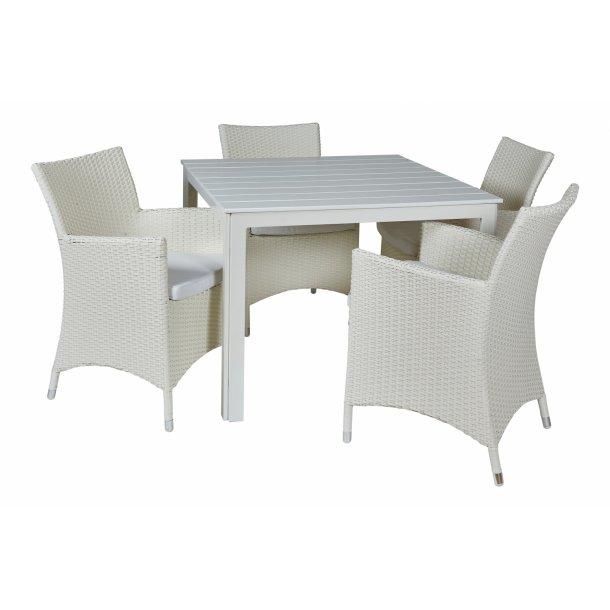 Lige ud Napoli Cafesæt - havemøbelsæt til 4 personer. Billigt SF77