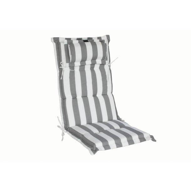 Positionshynde lux med nakkepude grå/hvid