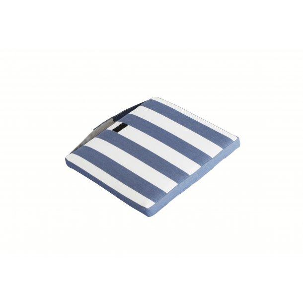 Jepara Sædehynde  37 x 40 cm - Blå/Hvide striber