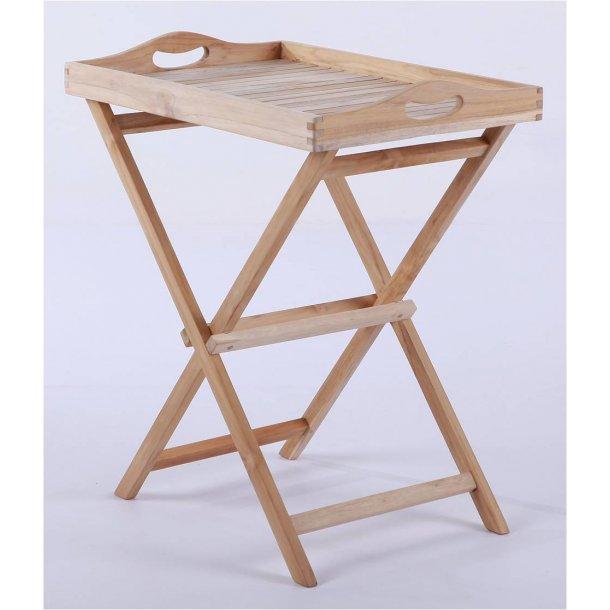 Bakkebord Med Aftagelig Bakke I Teak