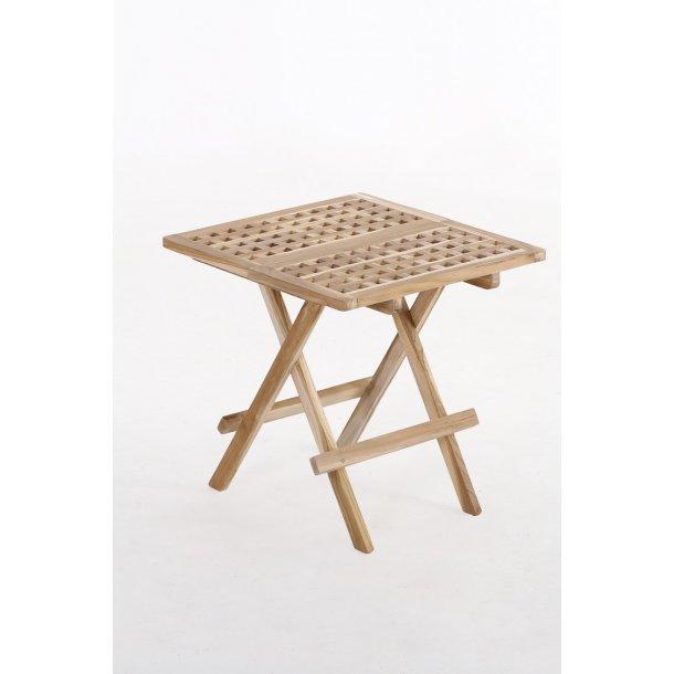 Picnicbord Teak - 50 x 50 cm
