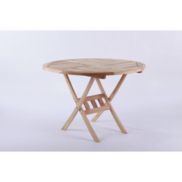 Teakbord - Ø: 110 cm