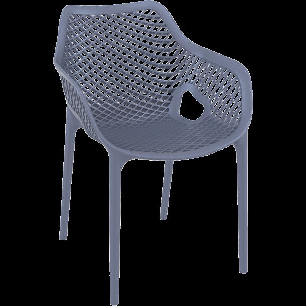 Air Stabelstol grå kvalitets plast