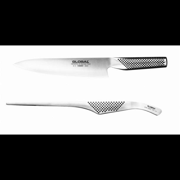 Global G-2 Chefkniv + GS-28 Stegetang