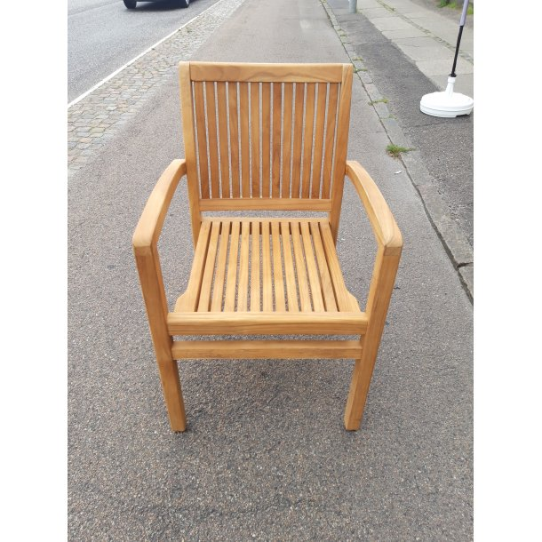 Royal Gold Teak Stabelstol