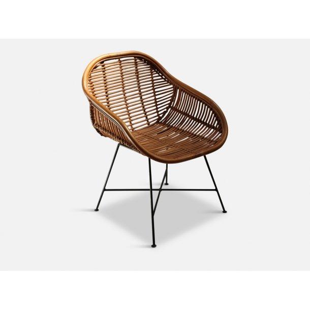 Bambusstol med Jernstel