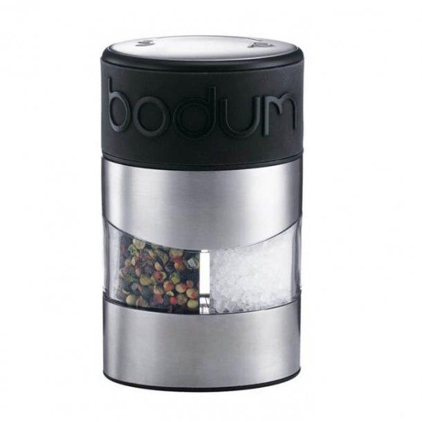 Bodum Twin Salt & Peberkværn - Stål. Dobbelt kværn til salt og peber