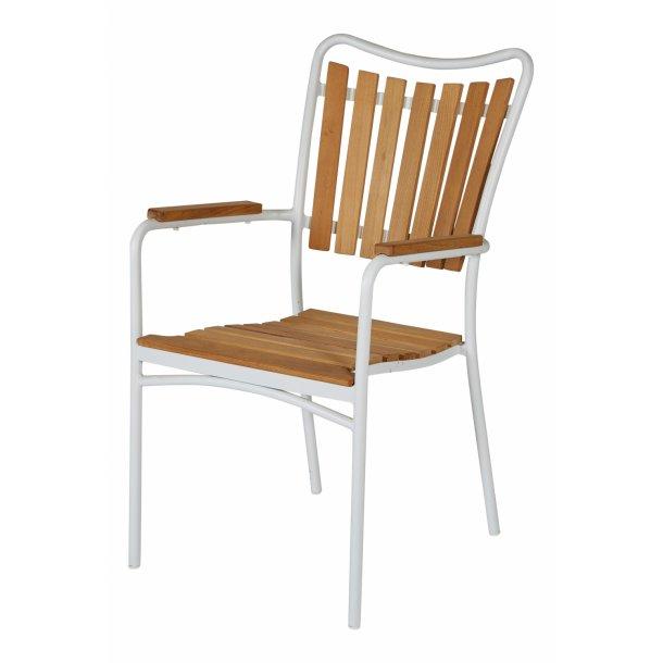 Eva Magnolia Stabelstol - vælg farve på stel: hvid eller grå