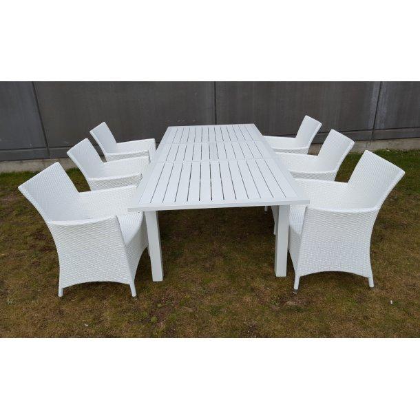Karlstadt bord med butterfly udtræk str. 100x170-230 cm