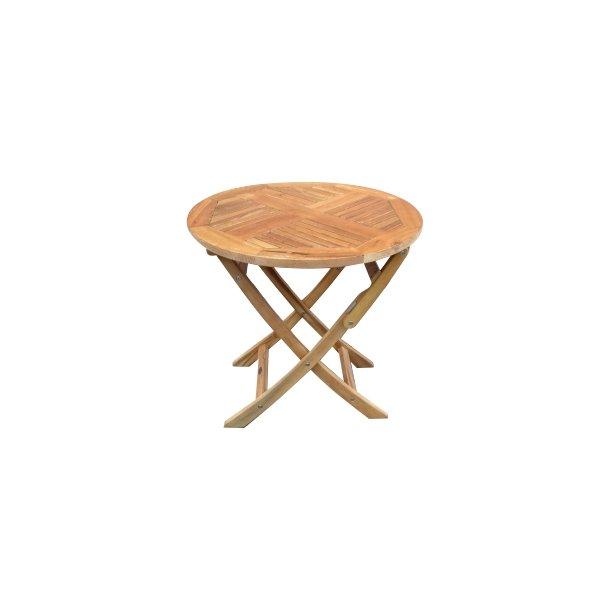 Oxford Lux Gold Teak Cafébord - Ø: 75 cm